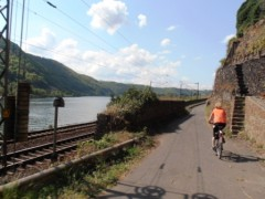 Abfahrt nach Steigung Radweg nach Kobern Gondorf